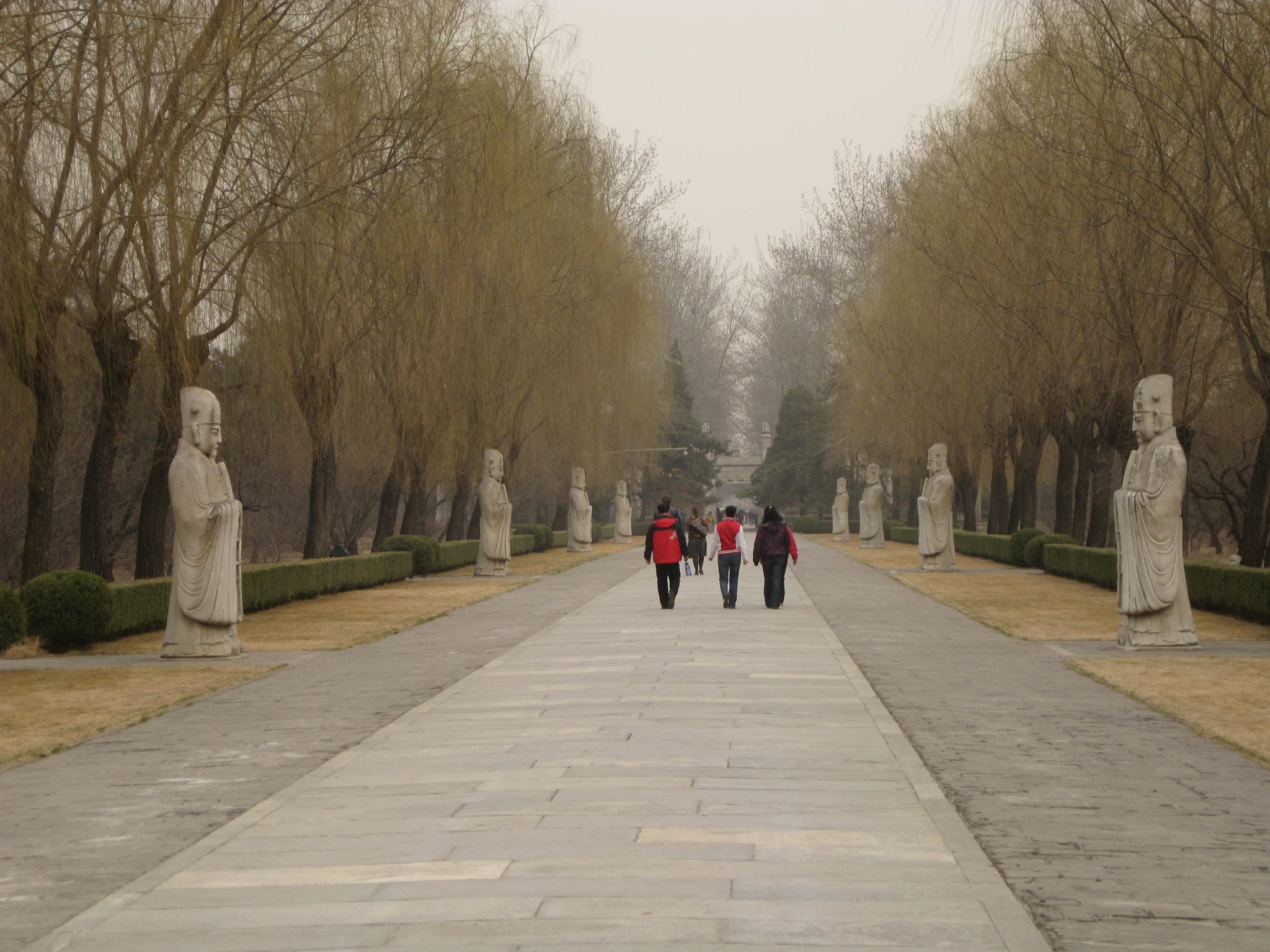 the sacred road leads to the treasure of the ming dynasty The sacred way is a 4-mile long road, which leads to the ming tombs is a 4-mile long road, which leads to the ming tombs in built during the ming dynasty.
